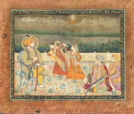 An Indian late 19th century Punjab-Sikh-School painting, pol