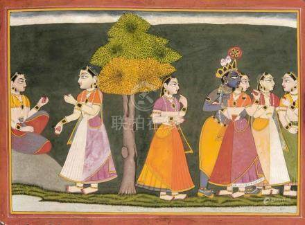 An Indian painting, Basoli school, late 19th/early 20th c.,