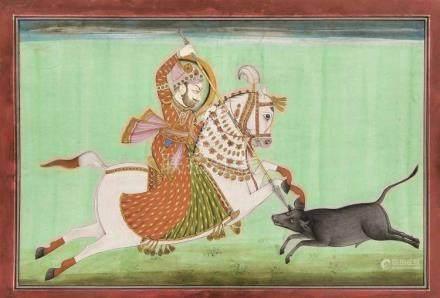An Indian painting, Kotah school, c. 1870, polychrome pigmen