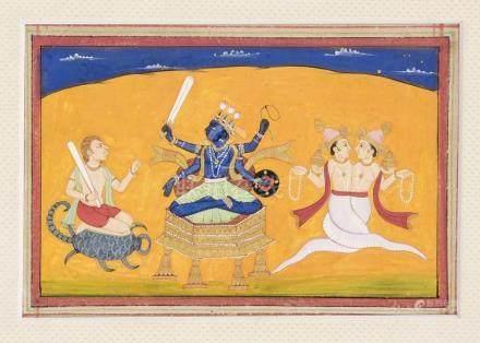 An Indian miniature, Kangra school, 1st half 19th c., polych