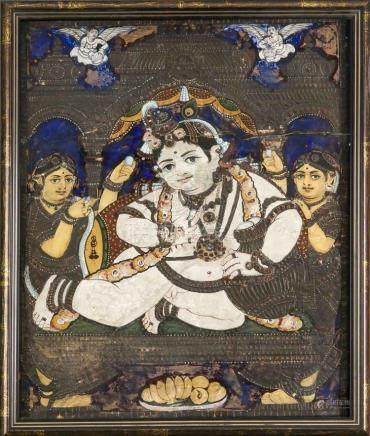 A Tanjore painting, South India, early 20th c., Jai Shri Kri
