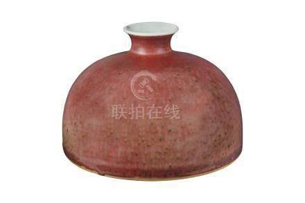 A PEACHBLOOM-GLAZED WATERPOT, TAIBAIZUNQing dynasty, late 19th century8,3 c