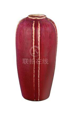 A FLAMBÉ-GLAZED WINTER MELON-SHAPED VASEQing dynasty, late 18th - early 19t