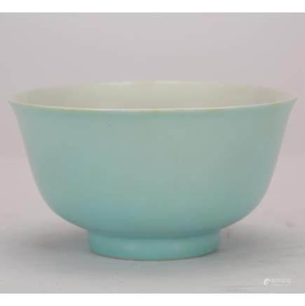 CHINESE BLUE GLAZED PORCELAIN BOWL