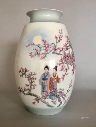 Wang Xiliang, A Famille Rose Vase