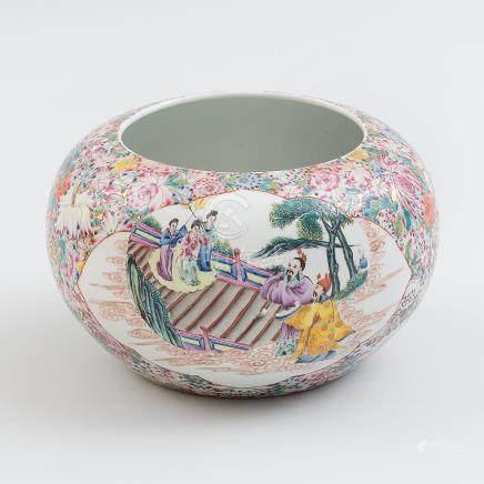 Cuenco en porcelana china millefiori. Trabajo Chino, Siglo XX.