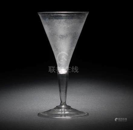 A façon de Venise wine glass, circa 1650