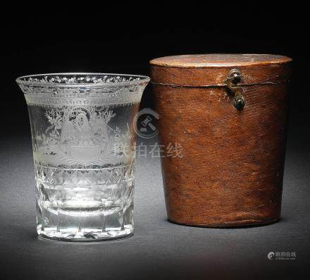 An attractive French beaker in a fitted case, circa 1805-20