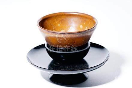 A Tenmoku Bowl and Lacquer Saucer