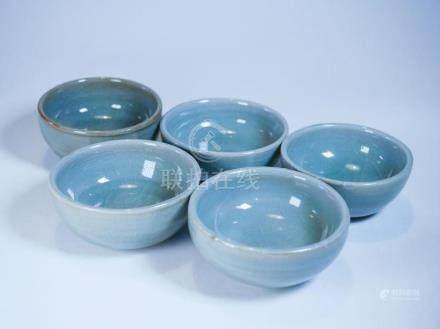 Five Longquan Teacups