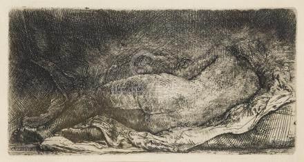 Rembrandt Harmensz van Rijn (1606-1669); Reclining Female Nude;
