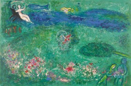 Marc Chagall (1887-1985); Daphnis et Chloé: eight plates; (8)