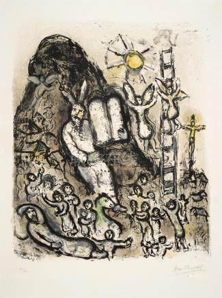 Marc Chagall (1887-1985); Vision de Moïse;