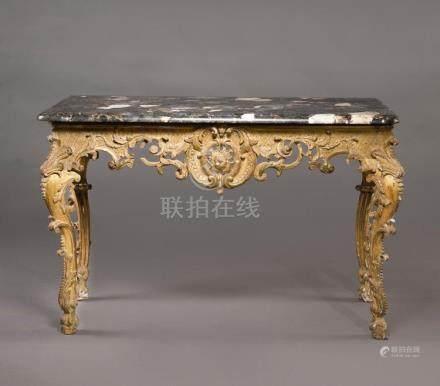A RÉGENCE GILTWOOD CONSOLE TABLE, CIRCA 1725 |