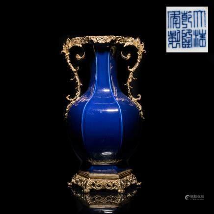 Chinese Export Bronze Mounted Vase