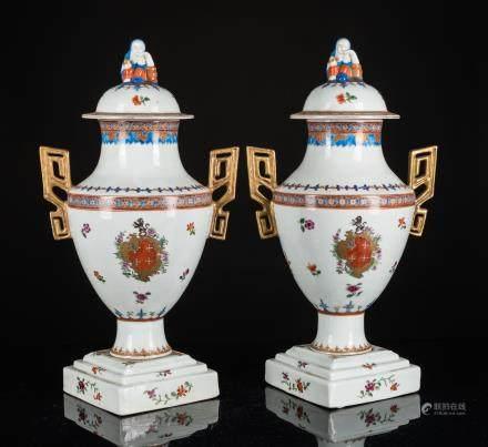 Yongzheng Period Pair Export Porcelain Vase