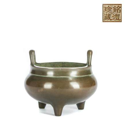 19th Antique Bronze Censer