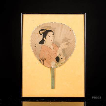 Japanese Antique Meiji Fan