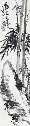 1897年作 劲节高风 立轴 水墨纸本