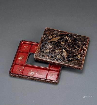 明 螺钿砚箱