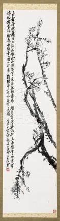 1908年作 铁骨生春 立轴 水墨纸本