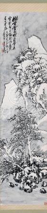 1915年作 雪景 立轴 水墨纸本