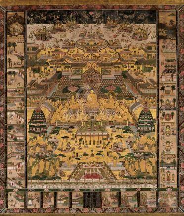 佛陀画 立轴 设色纸本