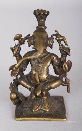 A Brass Figure of Ganesha, Eastern India, circa 18th/19th ce