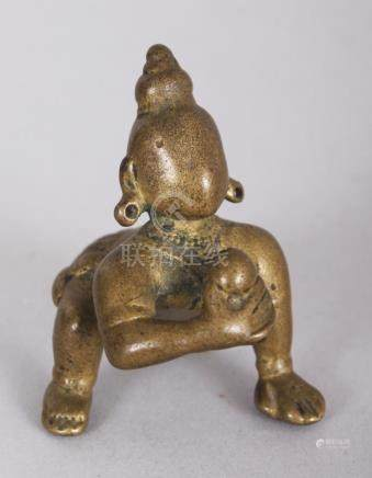 A Small Bronze Figure of Balakrishna, Bengal, Eastern India,