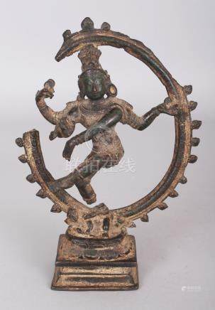 A Small Late Chola Bronze Figure of Siva Nataraja, Tamil Nad
