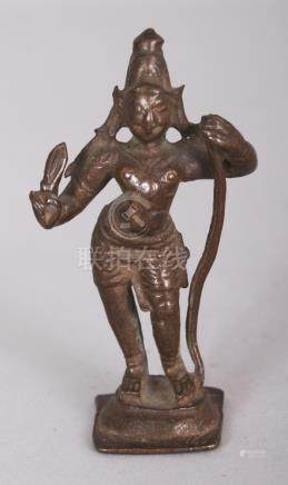 A Small Bronze Figure of Bhima, Tamil Nadu, South India, 17t