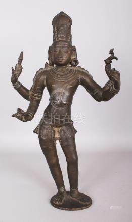 An Important Chola Bronze Figure of Siva Vinadhara, Tamil Na