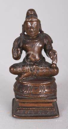 A Bronze Figure of a Tamil Saint, South India, 19th century,