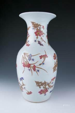 A Large Famille Rose Vase