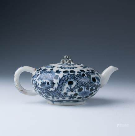 A Blue and White Teapot, 18 Century