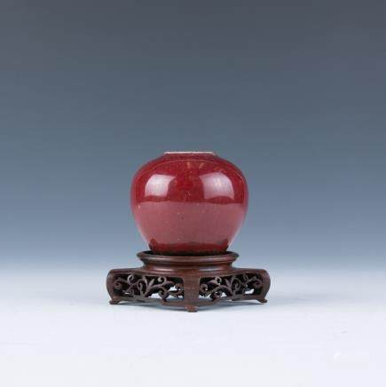 A Red Glazed Waterpot
