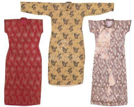 A Set Of Three Piecess Of Cheongsam
