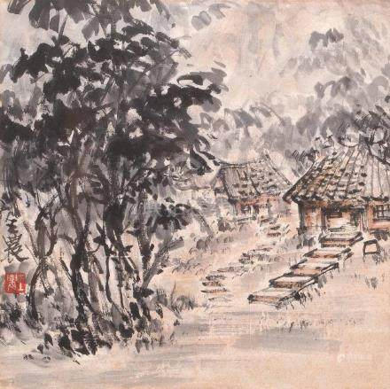 Landscape Painting by Wang Nong (1926~2013)