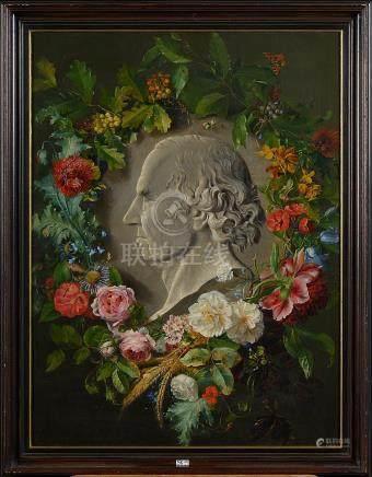 """Huile sur toile """"Portrait du peintre Jan Willem Pieneman en"""