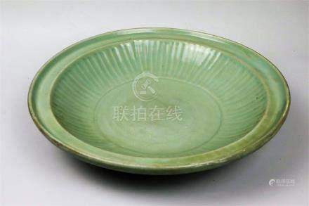 Plat en grès émaillé céladon Longquan Chine