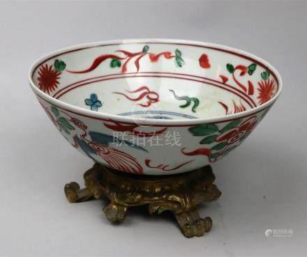 Bol en porcelaine polychrome Chine