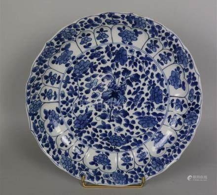 Coupe en porcelaine bleu blanc  Chine