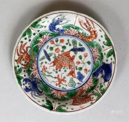 Coupelle en porcelaine famille verte Chine