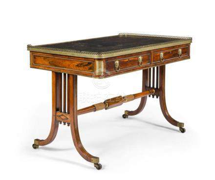 A REGENCY BRASS-MOUNTED ROSEWOOD WRITING TABLE, CIRCA 1810,