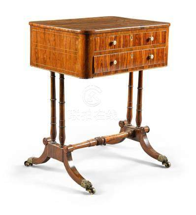 A REGENCY ROSEWOOD WORK TABLE, CIRCA 1820 |