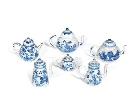 A pair of 'precious objects' teapots and covers Jiajing six-character marks, Kangxi (6)