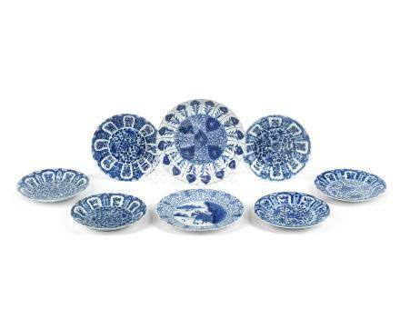 A group of blue and white dishes Kangxi (8)
