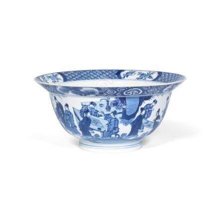 A blue and white 'klapmuts' bowl Chenghua six-character mark, Kangxi