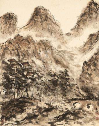 Attributed to Fu Baoshi (1904 - 1965) Landscape