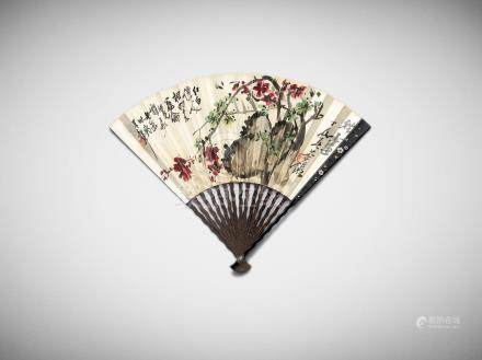 Attributed to Wu Changshuo (1844 - 1927) and Chen Hengke (1876 - 1923) Plum Blossom